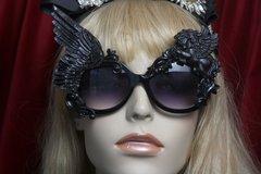 2743 Black Winged Pegasus Baroque Sunglasses