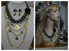 SOLD! 1517 Madam Coco Coin Medalion Jacket Chained Set