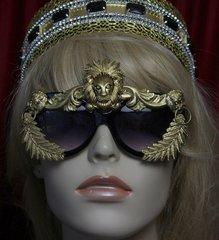 1750 Unisex Baroque Gold Lion Embellished Sunglasses