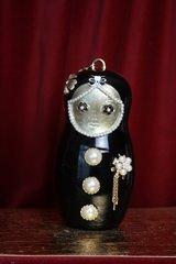 2322 Madam Coco Russian Doll Matryoshka Embellished Clutch Purse