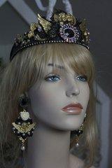 339 Total Baroque Beautiful Cherub Swarovski Unique Rhinestone Crown Headband Tiara