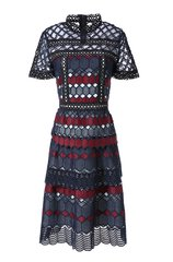 2592 Designer Inspired Crochet Cut Out Geometry Dress US2-US4