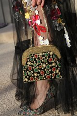 SOLD! 656 Baroque Designer Inspired Jeweled Beaded Inspired Handbag Clutch Purse
