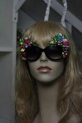 SOLD! Owl Crystal Art Nouveau Embellished Enamel Unusual Sunglasses
