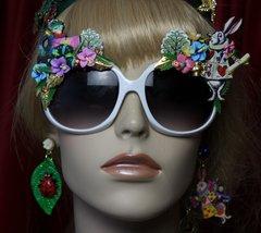 SOLD! 1997 Alice In Wonderland Fancy Embellished Sunglasses