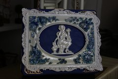 SOLD! 513  Vintage Style Greek Porcelain Stunning Handbag Purse