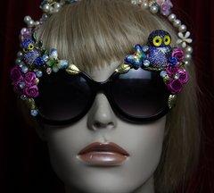 1901 Crystal Enamel Owl Cloissone Burtterfly Sunglasses