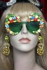 SOLD! 2517 Strawberry Hand Painted Butterfly Embellished Sunglasses