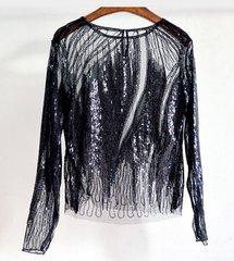 2073 Designer Sequin 3 Colors Fancy Evening  One Size Top