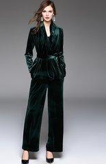 1583 Designer Inspired Trendy Velvet 3 Colors Twinset