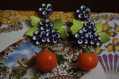Spring 2016 Designer Inspired Orange Flower Fancy Earrings