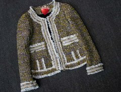1704 Madam Coco Tweed Pearl Embellished Blazer