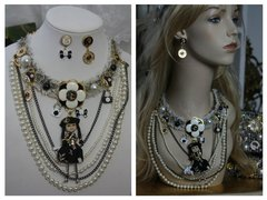 SOLD! 1515 Madam Coco Doll Brooches Charm Set