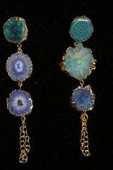 2323 Genuine Solar Quartz Dangle Elegant Earrings studs