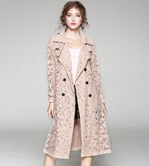 2635 Designer Inspired Lace 2 Colors Elegant Trench
