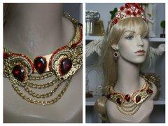 SOLD! 1590 Total Baroque Huge Swarovski Crystal Elements Chain Necklace SET