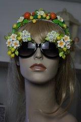 SOLD! 276 Spring 2016 Lemon Flower Embellished Spring Unusual Sunglasses