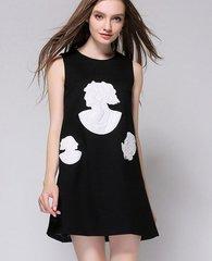 654 Designer Versus Embellished Patched Cameo Fancy Dress Tunica