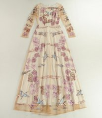 1252 Designer Inspired Bird Embroidery Maxi Dress