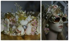 1215 Pale Pink Flower Long Hair Accessory