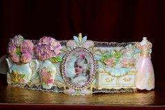 2479 Marie Antoinette Unusual Dressing Room 3D Effect Embellished Waist Belt