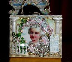 2236 Marie Antoinette GardenStunning Embellished Handbag Trunk