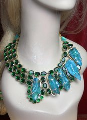 2324 Genuine Druzy+ Green Quartz Massive Huge Necklace