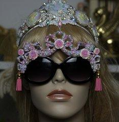 1235 Victorian Tassel Pearl Roses Embellished Sunglasses Shades