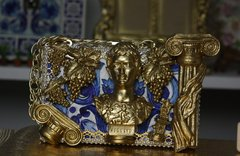SOLD!!!Total Baroque 3D Effect Gold Roman Ruins Augustus Purse Handbag Clutch