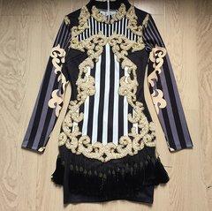 863 Designer Inspired Blaminini Heavy Beaded Mini Dress