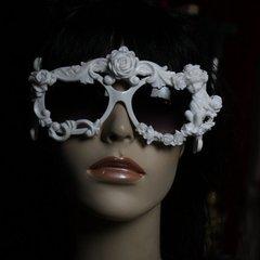 SOLD! 200 Amazing Baroque White Architect Cherub Rose Fancy Sunglasses Eye Wear