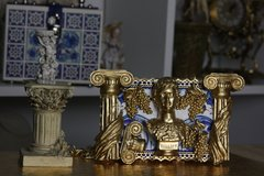 SOLD! COLLECTIBLE Total Baroque 3D Effect Gold Roman Ruins Augustus Purse Handbag Clutch