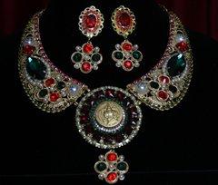 1787 Baroque Byzantine Roman Crystal Set