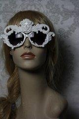SOLD! 89 Medusa White Architect Designer Inspired Fancy Eyewear Sunglasses