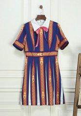 1813 Designer Inspired Chain Print Fancy Mini Dress