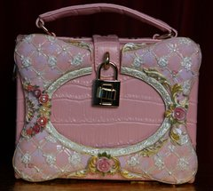 1936 Designer Inspired Sweet Cake Pink Trunk Handbag