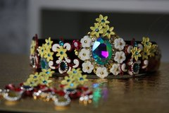 SOLD! 631 Spring 2016  Inspiration Colorful Yellow Flower Headband