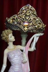2338 Medusa Vintage Antique Style Bronze Crown Tiara