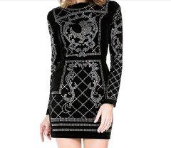 235 Balmy Danceme Bling Mini Black Dress Size US6