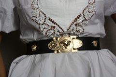 1545 Medusa Gold Embellished Stretchy BWaist Belt