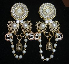 2639 Madam Coco Stunning Unusual Charms Studs Earrings Light Weight