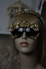 SOLD! Unisex Art Jewelry Zibellini Gold Medusa Unusual Unique Fancy Sunglasses