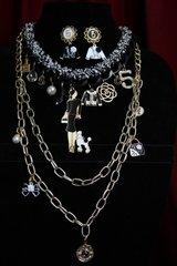 1968 Madam Coco Enamel Charms Chain Set