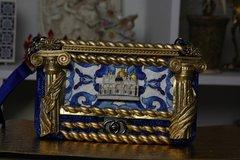 266 Baroque Roman Column Cesar Palace Le Boy Velvet Shoulder Handbag