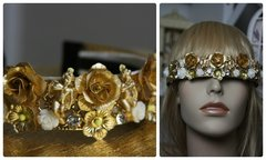 1050 Cherub BAroque Metal Flower Headband