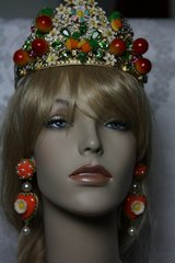 88 Enamel Spring 2016 Roma Collection Designer Inspired Orange Blossom Crown Head Band