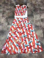 2200 Designer Inspired Car Print Fancy Mid Cuff Dress US2-US4