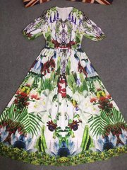 2495 Runway Floral Print Fancy Dress