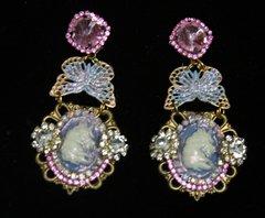 2203 Unicorn Pearlish Butterfly Studs Earrings