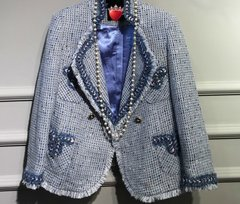 1703 Limited Edition Madam Coco Tweed Blue Blazer Jacket